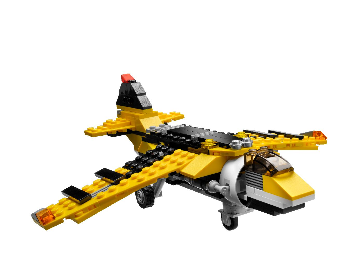 lego 6745 creator gelbe flieger propeller power. Black Bedroom Furniture Sets. Home Design Ideas