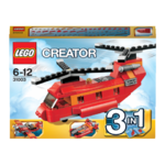 Lego 31003 Creator 3 in 1  Roter Helikopter / Doppeldeckerflugzeug / Rennboot