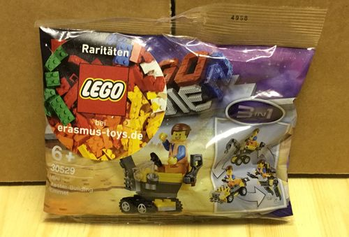 Lego 30529 Polybag Movie 2 Emmet Baumeister 3 in 1 mit Werbeaufkleber